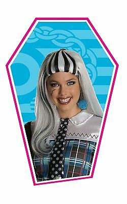 Ladies Girls Monster High Frankie Stein Wig Fancy Dress Costume Outfit Accessory