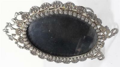 Antique Sterling Silver Frame Picture Art Stand Decor American British Glass Usa