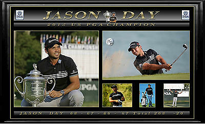 Jason Day Signed 2015 US PGA Golf Ball Framed with Certificate Of Authenticity