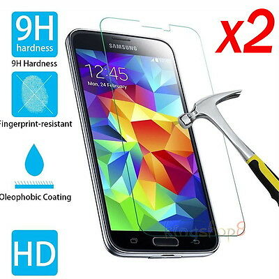 2x Premium Real Tempered Glass Screen Protector Film Cover For Samsung Galaxy S5