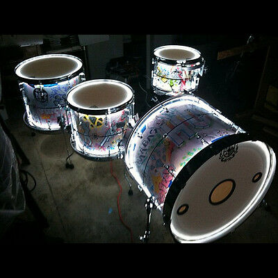 LED Percussion Drum Kits - UNIVERSAL fit -- (300 lights total) -- axis universal