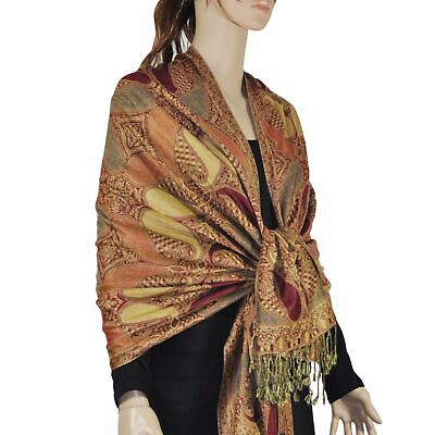 Fashion Rainbow Paisley Thick Pashmina Scarf Shawl Wrap 13 SOLID COLORS