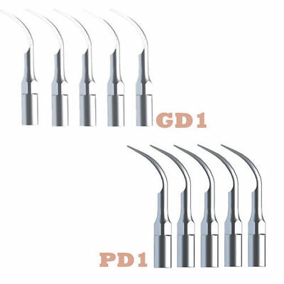 10 PCS Dental Ultrasonic Scaler Scaling Perio Tips 5*GD1 + 5*PD1 Fit DTE SATELEC