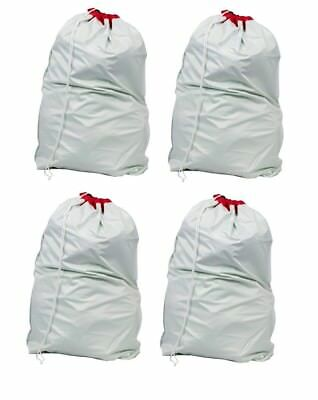 4 Large Waterproof Heavy Duty Laundry Bag Sack with Drawstring Commercial Style