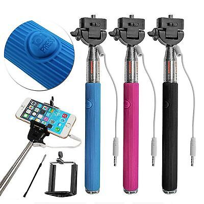 Selfie Stick Monopod Wired Remote Extendable Stick Mobile Phone Holder