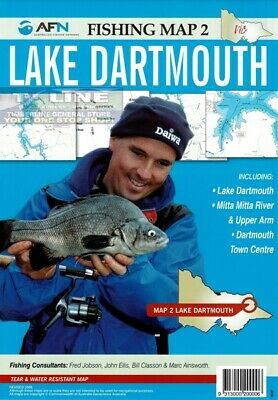 AFN Fishing Maps Lake Dartmouth (Vic) Map 2 Tear & Water Resistant Map