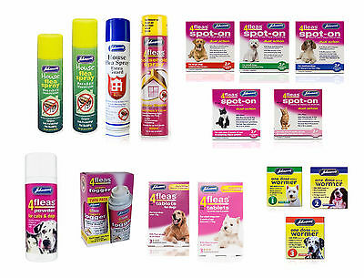 Dog Flea Drops Cat Kitten Spot On Tablets 4Fleas Household Sprays Fogger Worming