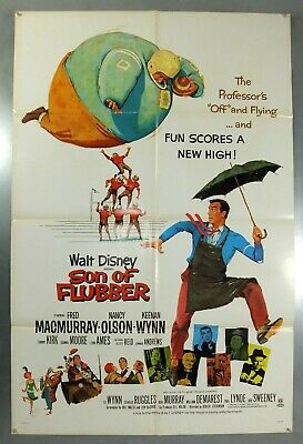 SON OF FLUBBER - FRED MacMURRAY / NANCY OLSON - ORIGINAL USA 1SHT MOVIE POSTER