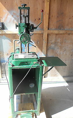 Burgmaster 6 Spindle Drill, Model B-1627, With Chucks And Stand