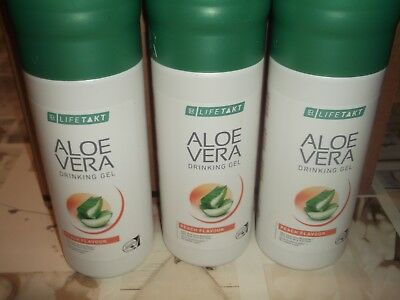 3 x LR Aloe Vera Drinking Gel Peach 1000 ml NEW Top Offer Health