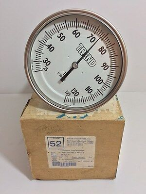 "New! Trend Instruments Inc 5"" Adjustable Bimetal Thermometer Model 52"
