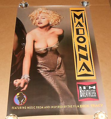 Madonna I'm Breathless Dick Tracy Poster 1990 Original 35x23