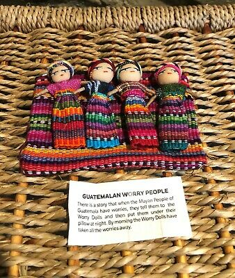 Large  4 Worry Doll Set in purse