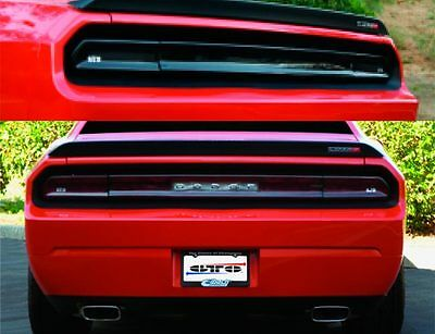 2 Dodge Challenger 08-2014 Tail Light Covers  Smoked Gt Styling Gt4163 & Gt4165