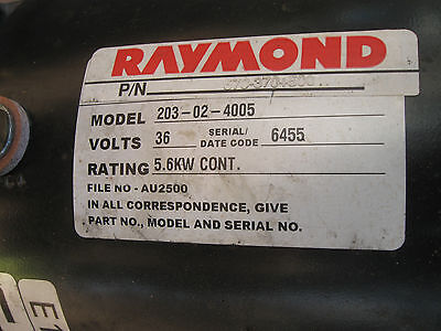 RAYMOND Electric Forklift Drive Motor 36v DC 570-370-500