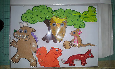 Felt Board/flannel Story Rhyme Teacher Resource - The Gruffalo