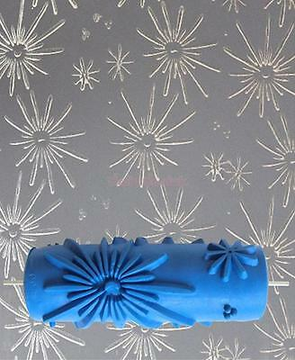 15cm Wallpaper Tool Painting Roller Flower Embossed for DIY Wall Decoration