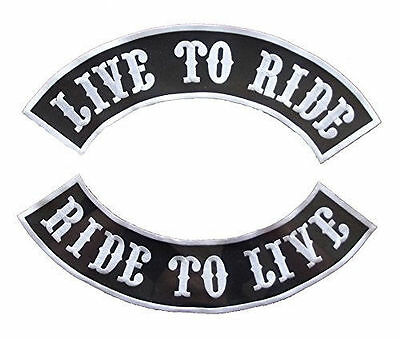 Live to Ride, Ride to Rockers Ptches Back Patches set for Biker Motorcycle vest