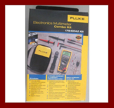 Fluke 179 EDA2 Digital Multimeter Deluxe Combo Soft Case TPAK Temp Leads Kit NIB