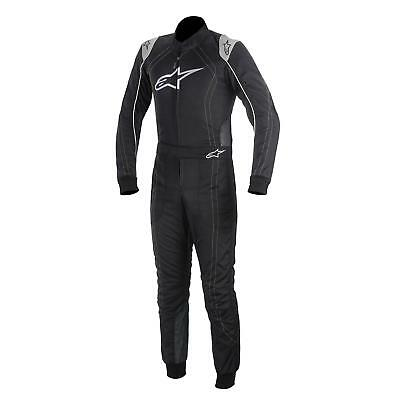 Alpinestars KMX-9 Youth Kart Racing Suit, Black/Yellow, Size Small