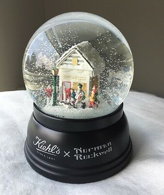 Norman Rockwell Jolly Postman Collectible Snow Globe Holiday Limited Ed. Rare