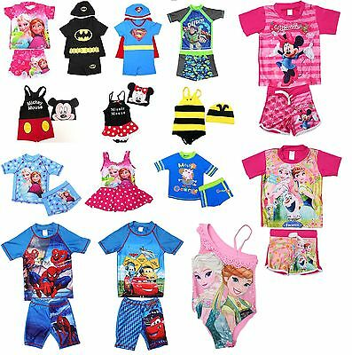 NEW Sz 1~10 KIDS BOYS GIRLS SWIMWEAR SWIM SUIT BATHERS BIKINI TOP SWIMMING CARS