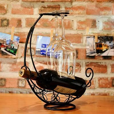 Metal Wine Rack Bracket Bottle Holder Barware Kitchen Decorate NA • AUD 29.99