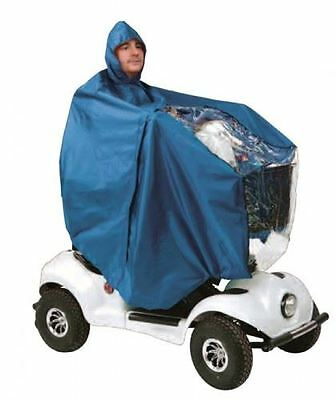 Waterproof Light Weight Rain Coat Mobility Scooter Hooded Cape Mac Poncho New