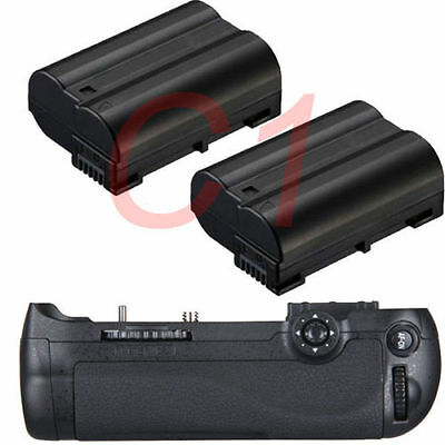 New Battery Grip For Nikon D600 D610 DSLR Camera as MB-D14 + 2 x EN-EL15 Battery