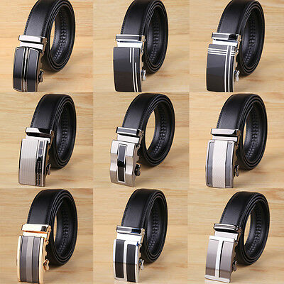 New Luxury Men's Business Buckle  Genuine Belt Automatic Waistband Leather