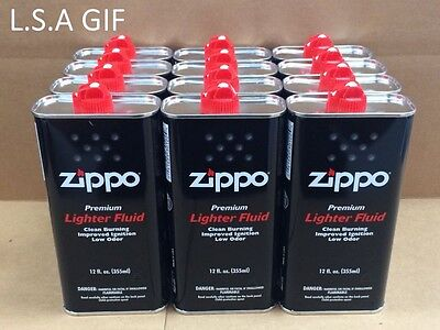 Zippo 12 fl oz (355ml) Fluid Fuel 12 Can Value Pack Combo Set NEW