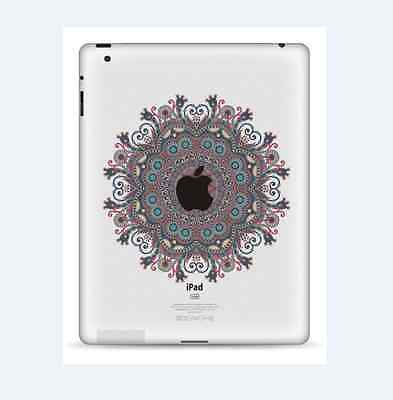 Vintage Flower iPad 1/2/3/4 Vinyl Sticker Skin Decal Back Cover
