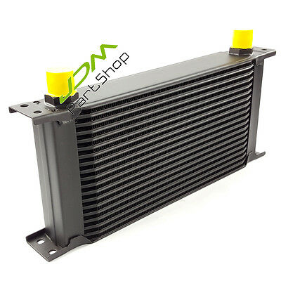 Universal 19 Row 10-AN Aluminum Cool Down Engine Transmission Oil Cooler Black