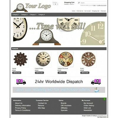 Clocks Ecommerce Website Business, Shopping Cart / Online Store 12 months hostin