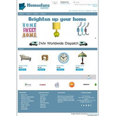Homeware Ecommerce Website Business, Shopping Cart / Online Store 12 Months Host