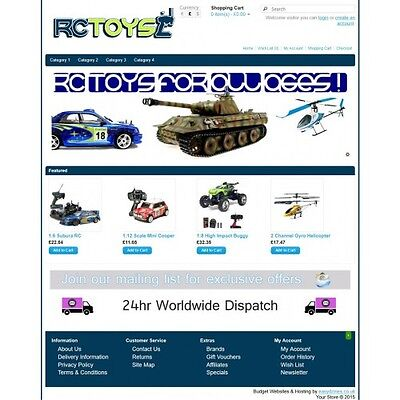 RC Toys Ecommerce Website Business, Shopping Cart / Online Store