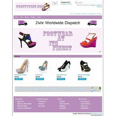 Shoes Ecommerce Website Business, Shopping Cart / Online Store