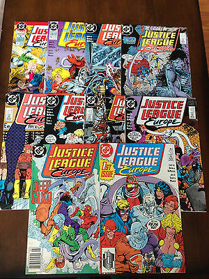 JUSTICE LEAGUE EUROPE COMIC LOT 10 ISSUES 1-7 9 10 ANNUAL 1 WONDER WOMAN FLASH
