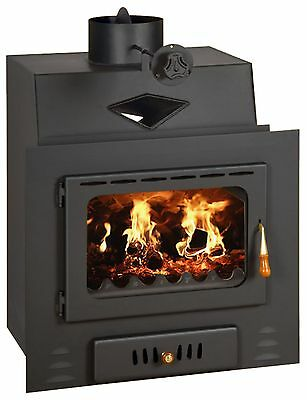 Wood Burning Fireplace Insert Inset Modern Multi Fuel Built in Stove Prity M