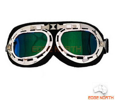 Goggles Rxt red baron aviator flying cafe racer Harley motorcycle motorcross