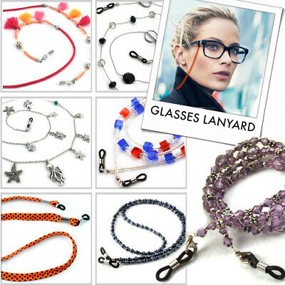 GLASSES NECK NOODLES / Sunglasses Spectacle Bead Chain Lanyard Cord Strap Holder