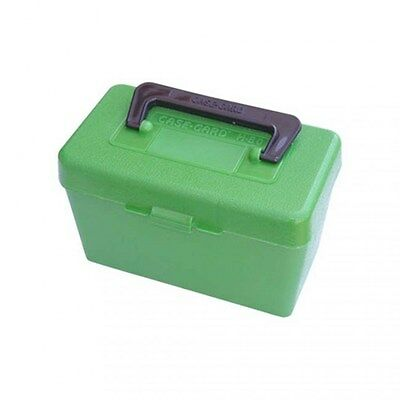 Authentic MTM Protective Green Deluxe Handled 50 Round Rifle Ammo Case H50XL10