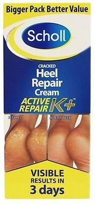 SCHOLL CRACKED HEEL REPAIR CREAM K+ 60ml NEW