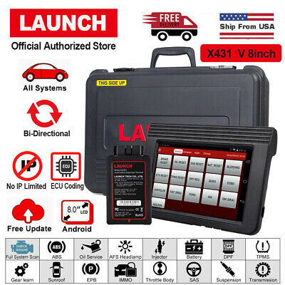 LAUNCH X431 V 8inch Tablet OBD2 Full System Auto Code Scanner Diagnostic Tool