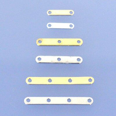 100 pcs Beading Jewellery Spacer Bars 2,3,4 Hole Metal Gold & Nickel Plate