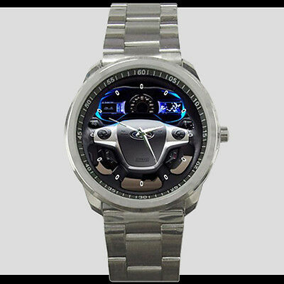 Ford Focus Electric Blue Interior Steering Style Sport Metal Watch Free Shipping