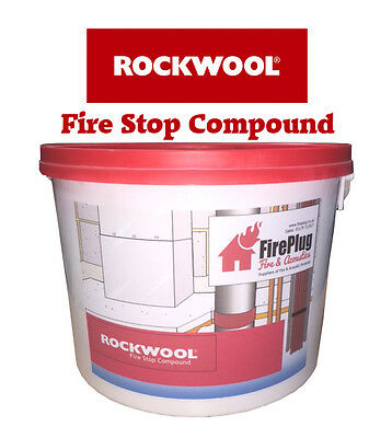 Rockwool Fire Stop Compound - Now Sold in 10 ltr Tubs