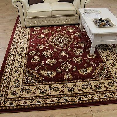 Large Small Classic Traditional Red Carpet Rugs Runners Circle Half Moon Mats