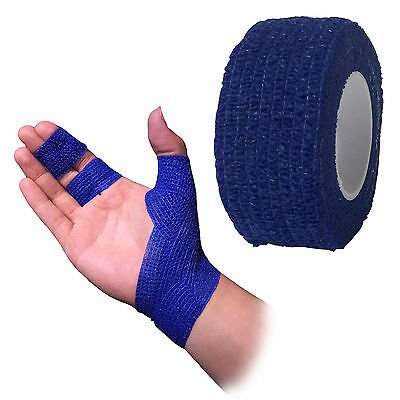 2.5Cm Coban Cohesive Sports Self Adhesive Athletic Support Finger Bandage Blue