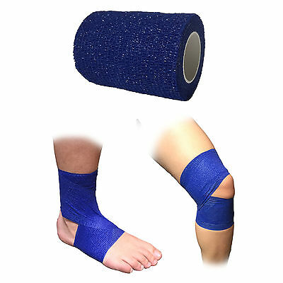 7.5Cm Coban Cohesive Sports Self Adhesive Athletic Support Strap Bandage Blue